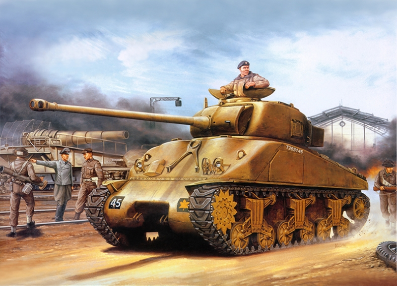 Savaş Dönemi Tank Çizimi Askeri Kanvas Tablo