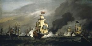 Savaş Gemileri Deniz Tekneler 2 Yağlı Boya Sanat Kanvas Tablo
