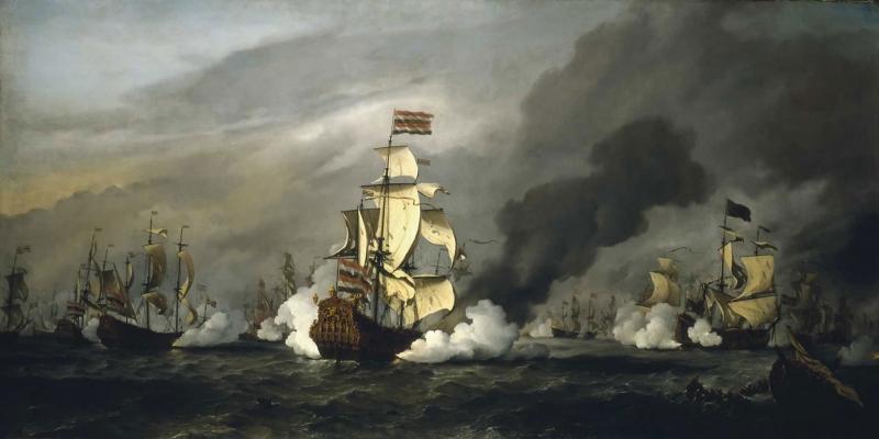 Savaş Gemileri Deniz Tekneler 2 Yağlı Boya Sanat Kanvas Tablo Arttablo