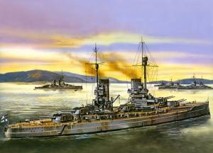 Savaş Gemisi Çizimi Askeri Kanvas Tablo