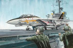 Savas Gemisinden Kalkis Yapan F16 Yagli Boya Sanat Kanvas Tablo