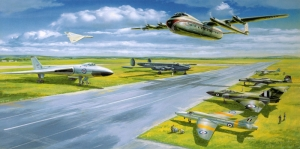 Savas Jetleri Bombardiman Ucaklari 16 Yagli Boya Sanat Kanvas Tablo