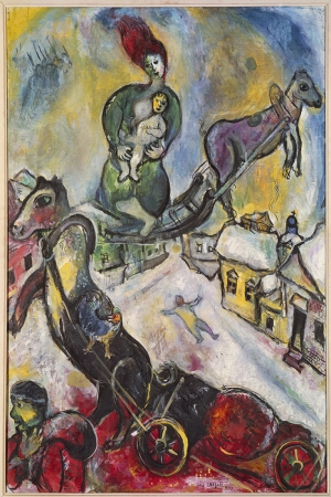 Savaş Marc Chagall The War Klasik Sanat Kanvas Tablo