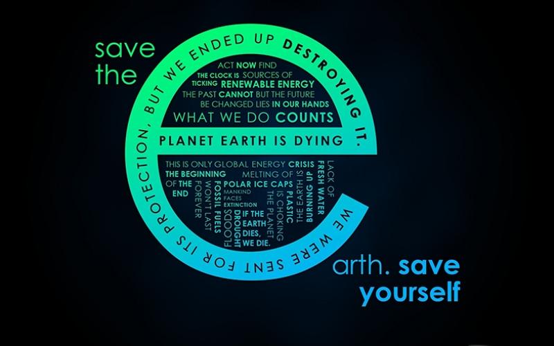 Save The Earth Poster Dünya Koruma Popüler Kültür Kanvas Tablo