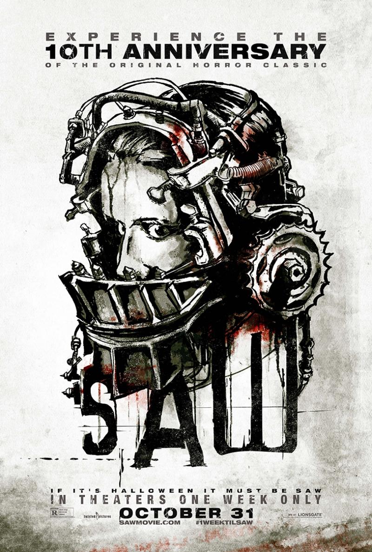 Saw Testere İllustrasyon Kanvas Tablo