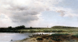 Sazlık Manzarası Yağlı Boya Sanat Kanvas Tablo