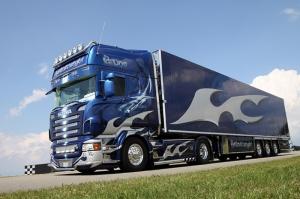 Scania Tır Araçlar Kanvas Tablo