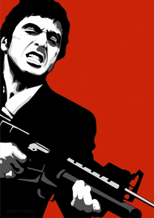 Scarface Al Pacino Tablo