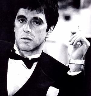 Scarface Al Pacino Ünlü Yüzler Kanvas Tablo