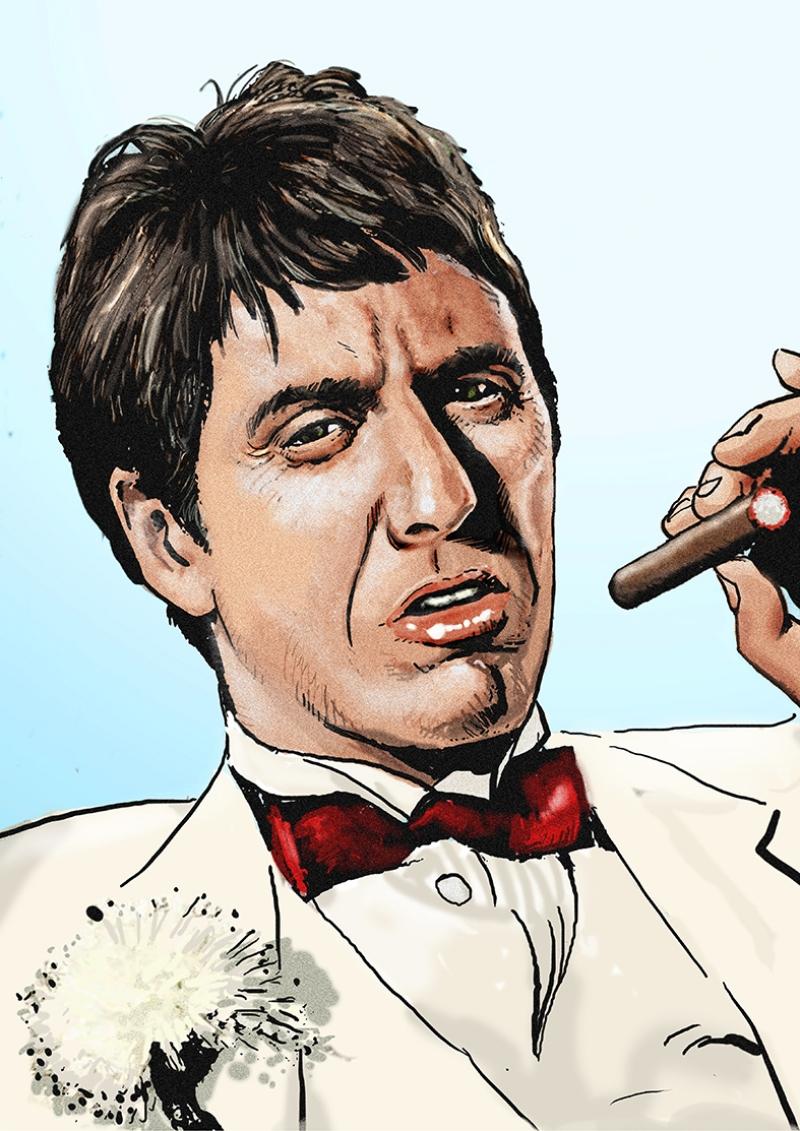 Scarface Tony Montana Al Pacino Popüler Kültür Kanvas Tablo
