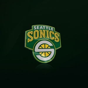 Seattle Supersonics Nba Logotip Kare