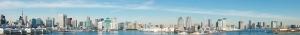 Şehir 5 Panaromik Kanvas Tablo