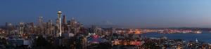 Şehir Gece Panaroma Panaromik Manzara Kanvas Tablo