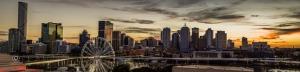 Şehir Gün Batımı Panaroma Panaromik Manzara Kanvas Tablo