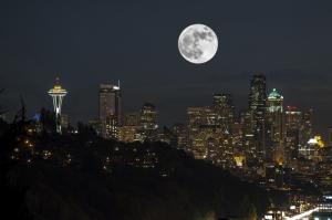 Şehir Işıkları-15 Şehir Manzaraları Kanvas Tablo
