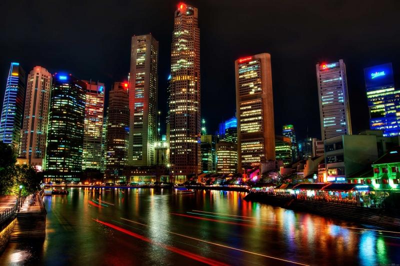 Şehir Işıkları-3 Şehir Manzaraları Kanvas Tablo