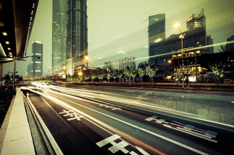 Şehir Işıkları Şehir Manzaraları Kanvas Tablo