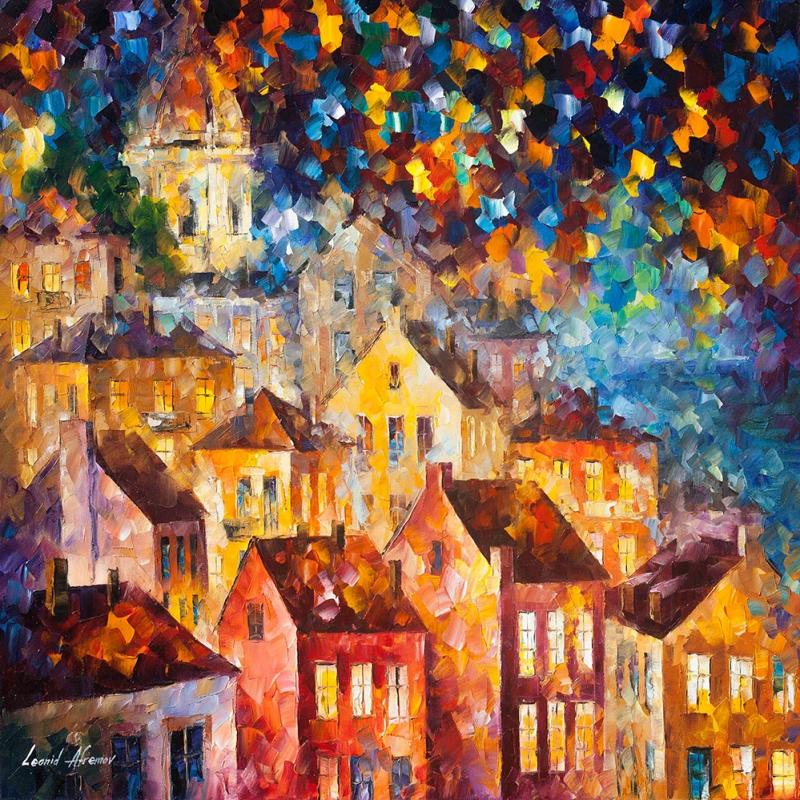 Şehir Manzarası Aksam Işıkları 2 Dekoratif Kanvas Tablo