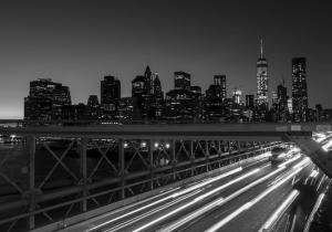 Şehir Manzarası Siyah Beyaz Fotoğraf Kanvas Tablo