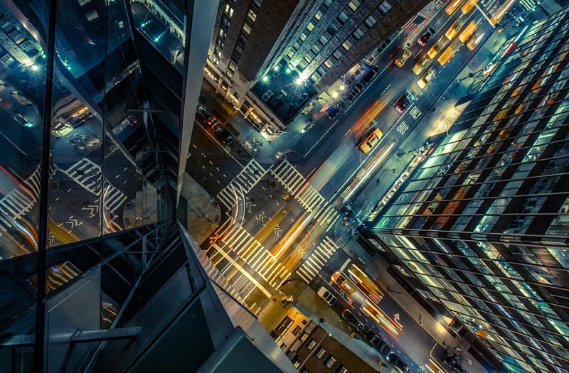 Şehir Üstten Görünüş Dünyaca Ünlü Şehirler Kanvas Tablo