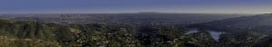 Şehir ve Doğa Panaroma Panaromik Manzara Kanvas Tablo