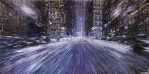 Şehirde Zaman 1 Şehir Manzaraları İç Mekan Sanat Kanvas Tablo