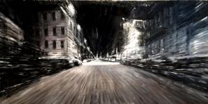 Şehirde Zaman 2 Şehir Manzaraları İç Mekan Sanat Kanvas Tablo