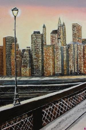 Şehre Bakış Manzara Sanat Kanvas Tablo