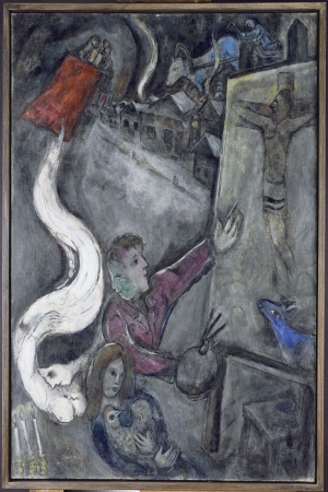 Şehrin Ruhu Marc Chagall The Soul Of The City Klasik Sanat Kanvas Tablo