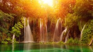 Şelaleler Doğa Manzaraları Kanvas Tablo