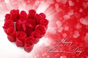 Sevgililer Günü ve Kırmızı Güller Aşk & Sevgi Kanvas Tablo
