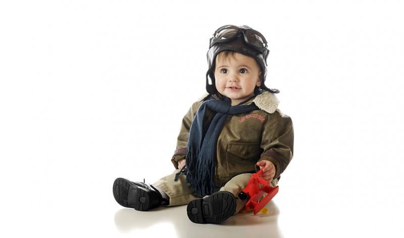 Sevimli Mini Pilot Bebek & Çocuk Dünyası Kanvas Tablo