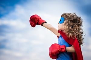Sevimli Süper Kahraman Bebek & Çocuk Dünyası Kanvas Tablo