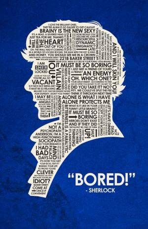 Sherlock Popüler Kültür Kanvas Tablo