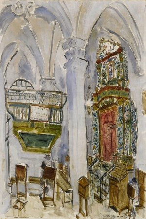 Sinagog Marc Chagall Reproduksiyon Klasik Sanat Kanvas Tablo