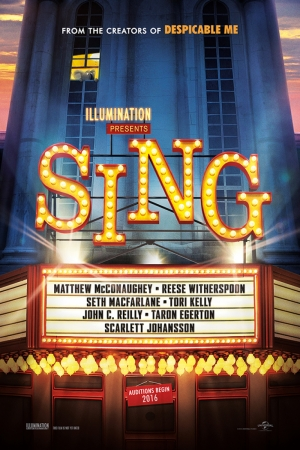 Sing Teaser Film Afişi Sinema Kanvas Tablo