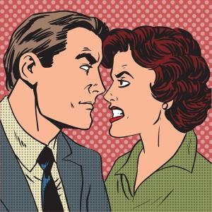 Sinirli Çift ve Aşk Popüler Kültür Kanvas Tablo