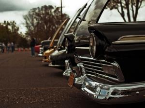 Sirali Klasik Otomobiller 4 Eski Klasik Amerikan Arabalar Kanvas Tablo