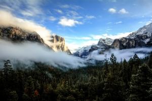 Sisli Dağ Doğa Manzaraları Kanvas Tablo