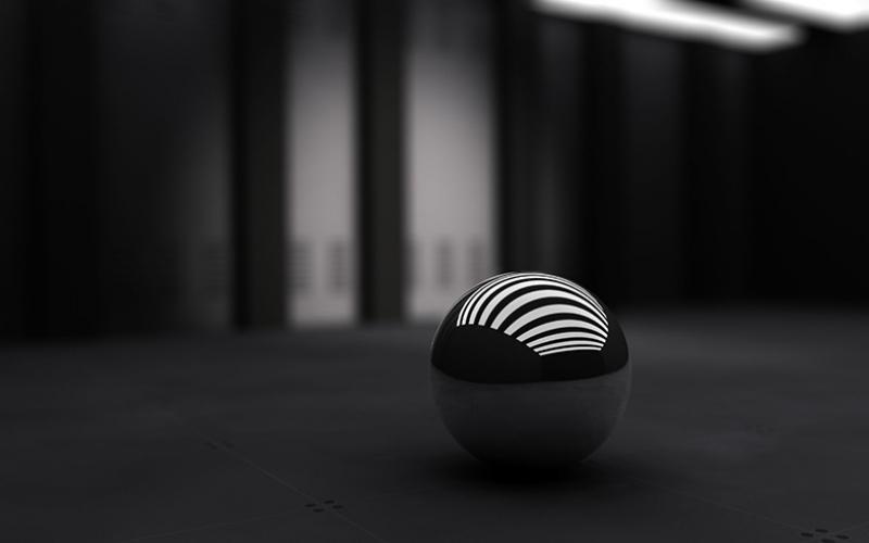 Siyah 3D Top Abstract Dijital ve Fantastik Kanvas Tablo