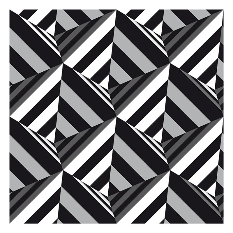 Siyah Beyaz 4 Abstract Dijital ve Fantastik Kanvas Tablo