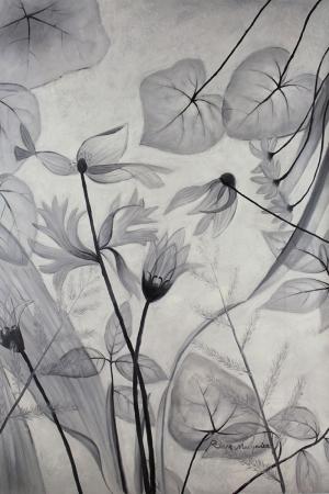 Siyah Beyaz Çiçekler 2 İç Mekan Dekoratif Modern Kanvas Tablo