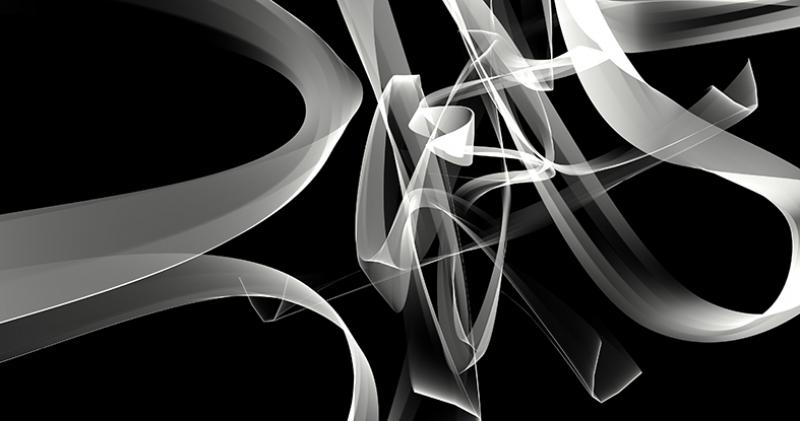 Siyah Beyaz Çizgiler Abstract Dijital ve Fantastik Kanvas Tablo