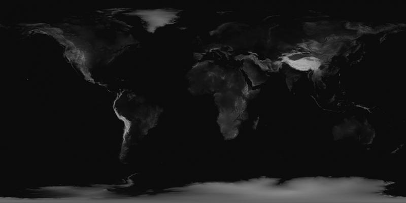 Siyah Beyaz Dünya Siluti Dünya & Uzay Kanvas Tablo