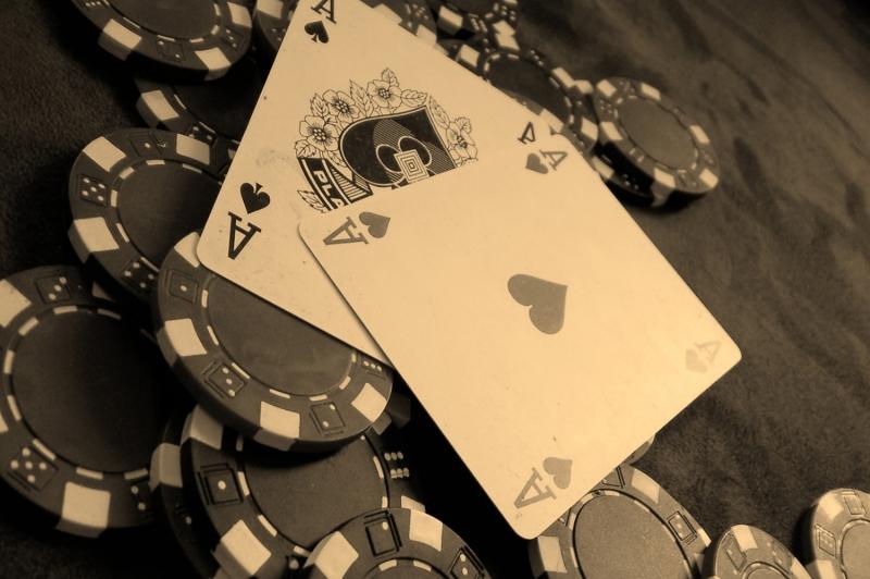 Siyah Beyaz İskambil Poker Kağıtları Fotoğraf Dijital fantastik Kanvas Tablo