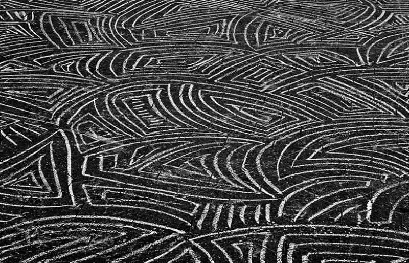 Siyah Beyaz Kaldırım Fotoğraf Kanvas Tablo