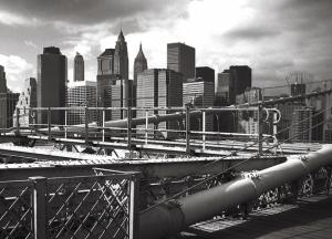 Siyah Beyaz Manzara Dünyaca Ünlü Şehirler Kanvas Tablo