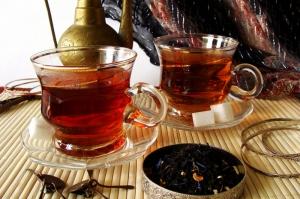 Siyah Çay Mizansen 2 Lezzetler Kanvas Tablo