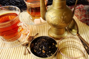 Siyah Çay Mizansen 3 Lezzetler Kanvas Tablo