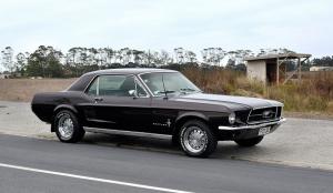 Siyah Gri Ford Mustang 1967 Model 1 Klasik Otomobil Araçlar Kanvas Tablo